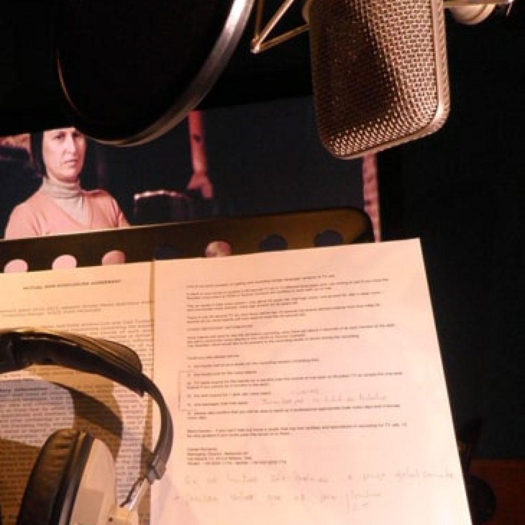 áudio pós-produção adr